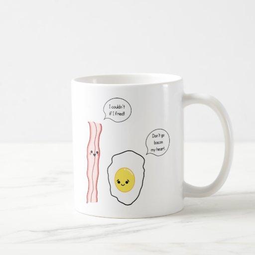 Cute Bacon and Egg Cartoon Mug