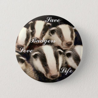 Cute Badger Cubs 6 Cm Round Badge