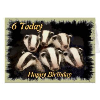 Cute Badger Cubs Card