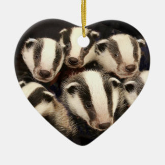 Badger christmas tree decorations baubles for Badger christmas decoration