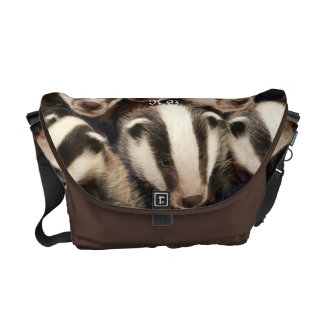 Cute Badger Cubs Courier Bag