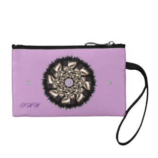 Cute Badger Cubs Fractal Change Purse