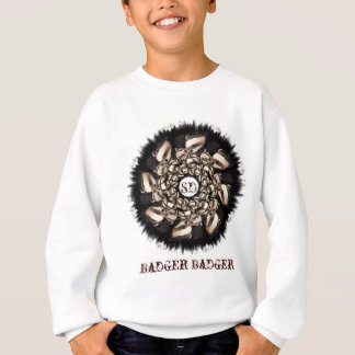 Cute Badger Cubs Fractal Sweatshirt