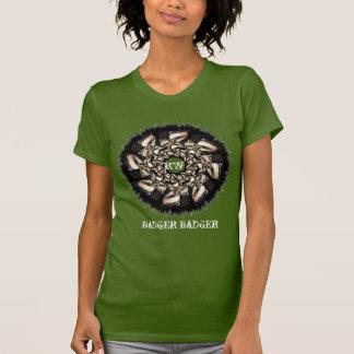 Cute Badger Cubs Fractal T-shirt