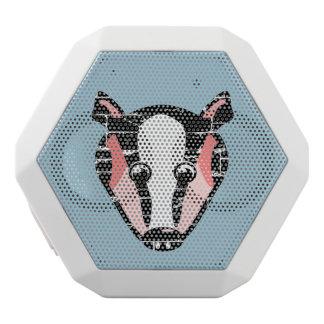 Cute Badger Face White Boombot Rex Bluetooth Speaker