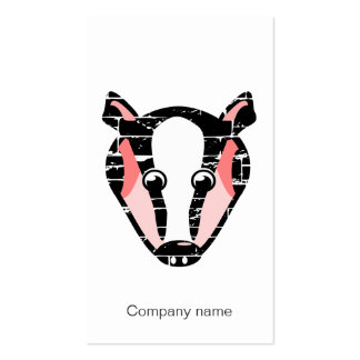 Cute Badger Face Pack Of Standard Business Cards