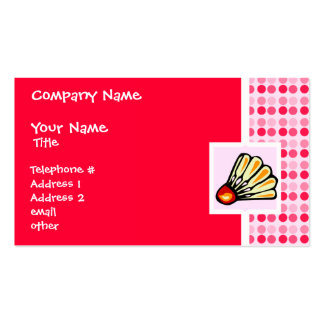 Cute Badminton Business Cards