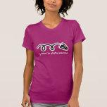 Cute badminton t-shirt with funny slogan