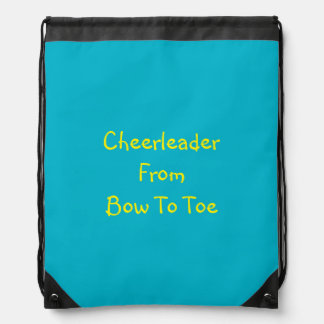 Cute Bag For The Cheerleader In You Life Drawstring Backpack