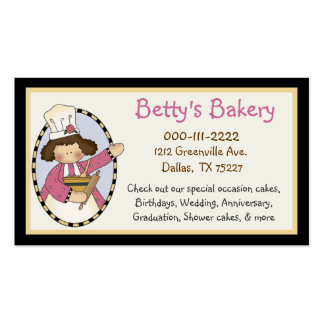 Cute Bakery Business Card & Coupon
