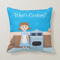 Cute Baking Housewife Design Cushion