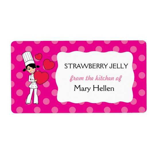 Cute Baking Labels Personalised