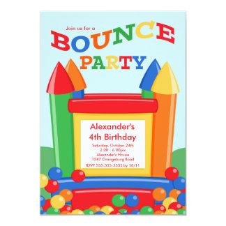 Cute Ball Pit Bounce House Birthday Party 13 Cm X 18 Cm Invitation Card