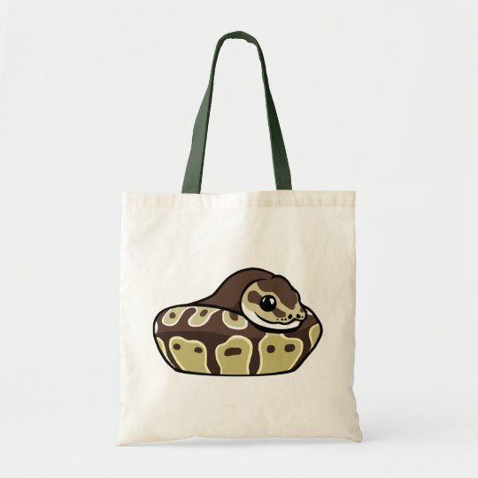 Cute Ball Python Pet Snake Drawing Budget Tote