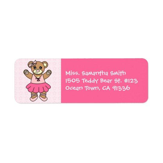 Cute Ballerina Dancing Teddy Bear - Pink Return