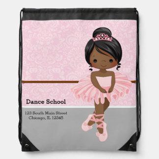 Cute Ballerina Drawstring Bags