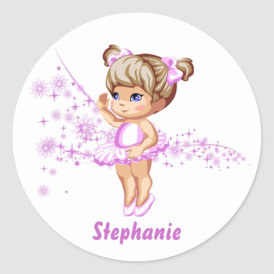 Cute Ballerina Girl Personalised Stickers