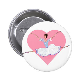 CUTE BALLERINA GISELLE DANCING. FOR DANCERS 6 CM ROUND BADGE