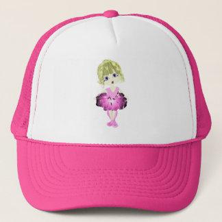 Cute Ballerina in Pink Tutu Art Trucker Hat