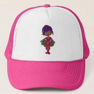 Cute Ballerina in Red and Green Tutu Art Trucker Hat