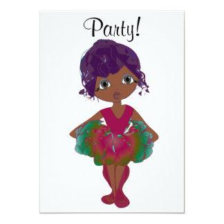 Cute Ballerina Party Invitation