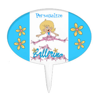Cute Ballerina Theme Cake Topper