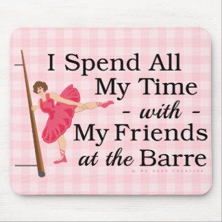 Cute Ballet Barre Funny Ballerina Dancer Mouse Pad