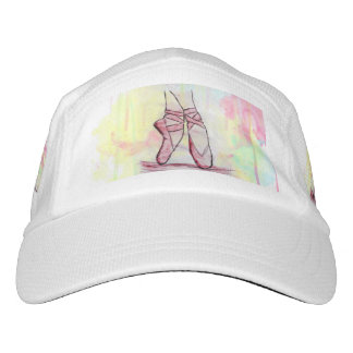 Cute Ballet shoes sketch Watercolor hand drawn Hat