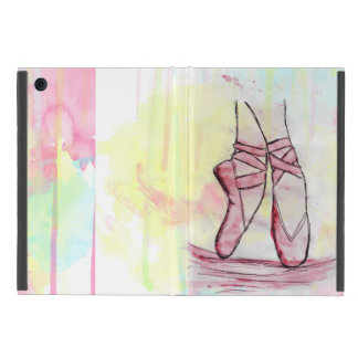 Cute Ballet shoes sketch Watercolor hand drawn iPad Mini Cover