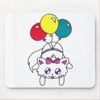 cute balloon kitten mousepad