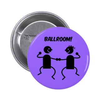 Cute ballroom pinback button