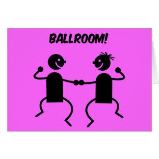 Cute ballroom greeting card