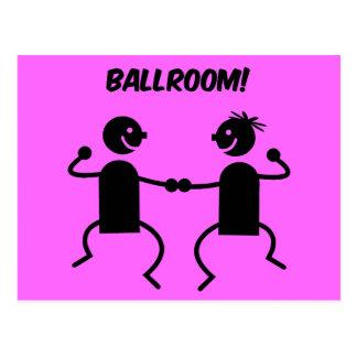 Cute ballroom postcard