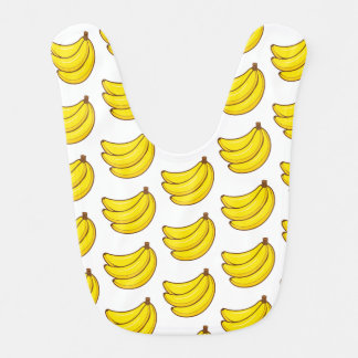 Cute Banana Pattern Bib