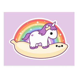 Cute Banana Unicorn Postcard
