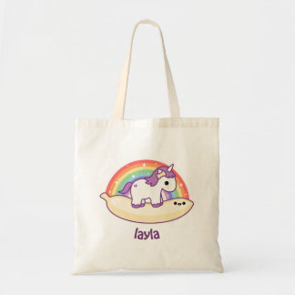 Cute Banana Unicorn Tote Bag