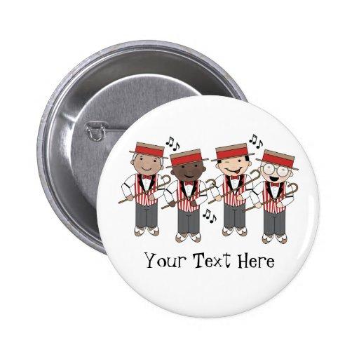 Cute Barbershop Quartet Gift Pinback Buttons