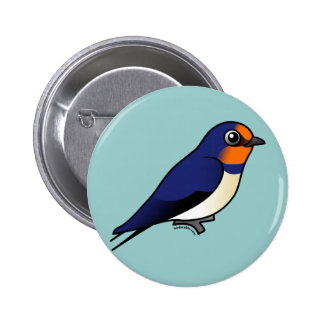 Cute Barn Swallow 6 Cm Round Badge