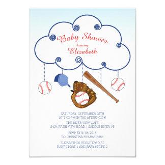 Cute Baseball Baby Shower Invitations