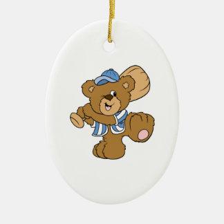 Cute Baseball Bear Christmas Ornament