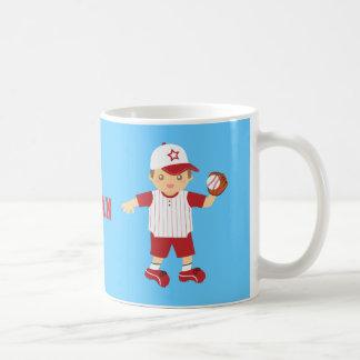 Cute Baseball Boy Batter Pitcher Catcher Mug