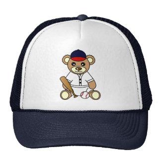 Cute Baseball Boy Teddy Bear Hat