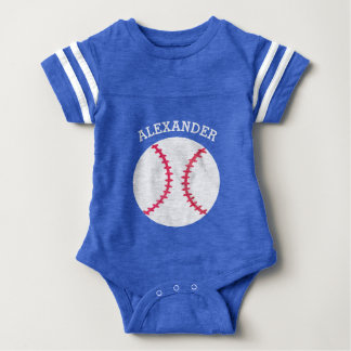 Cute Baseball Softball Personalized Baby Sports Baby Bodysuit