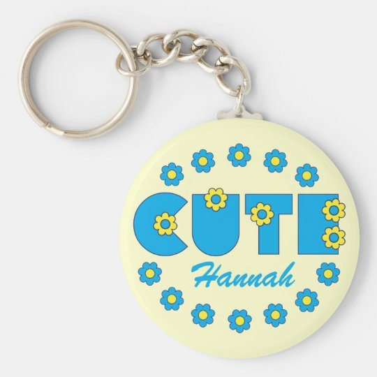 Cute Basic Round Button Key Ring