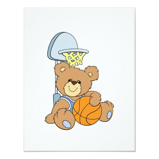 Cute Basketball Bear Card