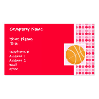 Cute Basketball Business Card Templates