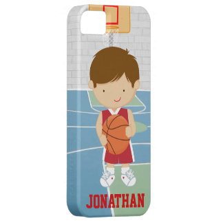 Cute basketball player red basketball jersey barely there iPhone 5 case