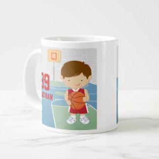 Cute basketball player red basketball jersey extra large mugs