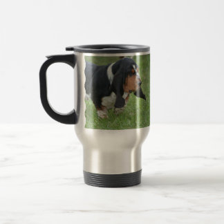 Cute Basset Hound Travel Mug