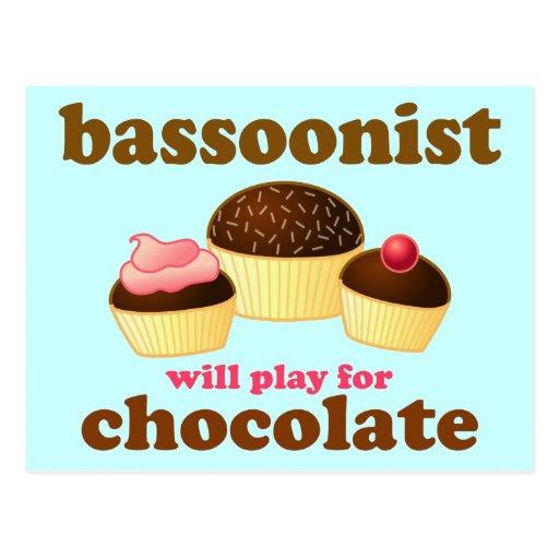 Cute Bassoon Postcard